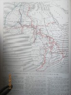 Carte Des Raids Raid Aeriens  Et Automobiles En Afrique 1926  Mission Chaumel Tranin Duverne   Citroen - Vecchi Documenti