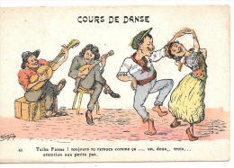 "CPA... ILLUSTRATEUR...  CHAGNY...COURS DE DANSE ."" Taîba Fatma !  Toujours Tu Remue Comme ça.....""  TBE - Chagny"