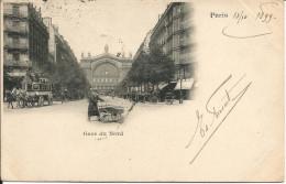 PARIS  -  GARE  DU  NORD  /  Carte  Expédiée En 1899  à  Liège  ( Belgique ) - Metro, Estaciones