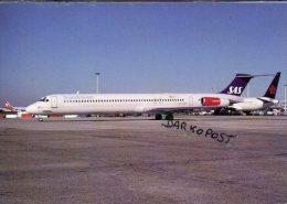 McDonnell Douglas MD-81 SAS Scandinavian Airways Aircraft Airlines MD 81 Avio Impex Aviation Aiplane MD 81 - 1946-....: Era Moderna