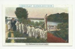 CHROMO CHOCOLAT GUERIN-BOUTRON - GRANDES MANOEUVRES  - ETABLISSEMENT D'UN BAC PAR LE GENIE - Guérin-Boutron
