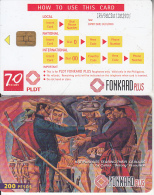 PHILIPPINES(chip) - Painting/Katipuneros Tearing Their Cedulas(rev.D-chip CHT10), Exp.date 31/01/00, Used - Philippines