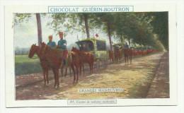 CHROMO CHOCOLAT GUERIN-BOUTRON - GRANDES MANOEUVRES  - CONVOI DE VOITURES MEDICALES - Guérin-Boutron