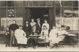 CARTE PHOTO  -  A Localiser -  MAISON CHAISE  -  Biere Du Nord  -  Café -  Billard  - Trés Beau Plan - Unclassified