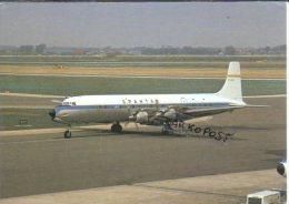 Douglas DC-7  Spantax Airlines Avion DC7 Aircraft Aviation Airplanes DC 7 Schiphol Airport - 1946-....: Era Moderna