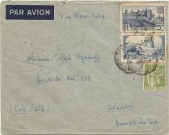 1938 FRANCIA, CORREO AÉREO - FRANCIA , VIA NEW YORK, MATASELLO PARIS - Airmail