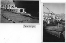 """2 PHOTOS  AUTHENTIQUES  - VEDETTE  """" LORRAINE""""   -   CHALOUPE  """" LORRAINE """"    1948 - Barcos"""