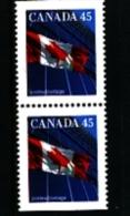 CANADA - 1995  45c  FLAG  PAIR  FROM  BOOKLET  MINT NH - 1952-.... Regno Di Elizabeth II