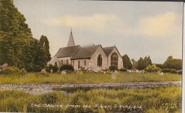 POSTCARD THE CHURCH FROM THE RIVER TITCHFIELD - Bournemouth (until 1972)