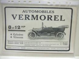 Ancienne Publicité L'ILLUSTRATION 22 Février 1913 AUTOMOBILES VERMOREL Torpédo / L'AMORTISSEUR J.M / GALEGINE De NUBIE - Advertising