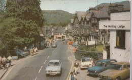 POSTCARD AMBLESIDE MARKET CROSS THE ENGLISH LAKES KLD 453 LAKE DISTRICT CLASSIC 1970 1960 CARS - Cumberland/ Westmorland
