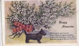 POSTCARD HAPPY MEMORIES TERRIER DOG SCOTTY BLACK 1945 - Dogs