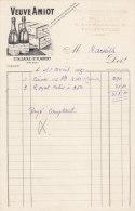 FACTURE VIN LIQUEURS PILLET 1930 PHILIPPEVILLE ALGERIE VEUVE AMIOT - Alimentare