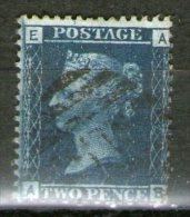 "GB 1868: 2 D Blue, 4 Corner Letters, Plate 12, Wmk ""Large Crown"", Perf. 14, Used, ; S.G. Sp. G2 Pl. 12     O - 1840-1901 (Viktoria)"