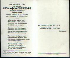 Souvenir Mortuaire SCHELPE Alfons (1889-1960) Geboren En Overleden Te MENEN - Images Religieuses