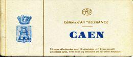 """N°42891 -carnet Caen -édijtions D'art """"Belfrance"""" - Caen"""
