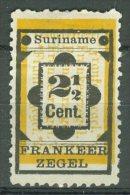 SURINAME 1892: NVPH 22 / YT 22, (*) Nsg - FREE SHIPPING ABOVE 10 EURO - Suriname ... - 1975