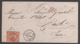 Napoléon III  N° 23 Avec Oblitération Sur Lettre Envoyé En Suise TB - 1862 Napoleon III