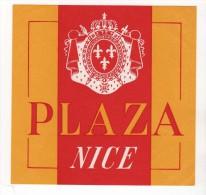 Etiquette Hôtel Plaza Nice - Etiquettes D'hotels