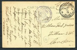 1918 SM Belgium Postes Militaire Legerposterij Belgie Grande-Trappe Monastere Postcard - London - Postmark Collection