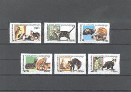 Cambodia Cambodge Yvertnr. 1771-76 *** MNH  Katten, Chats Cats Cote 11 Euro - Gatos Domésticos
