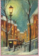 Happy New Year - Snow On The Streets, 1968., Yugoslavia (6671/73, Fototehnika) - Anno Nuovo