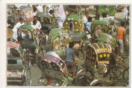 Bangla Desh . Dacca. Encombrement De Cyclo-pousse - Toutes Les Informations Sont Au Verso De Cette Carte Fiche - Bangladesh