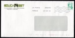 France Enveloppe Ecole De Conduite Educarest Metz Avec Lettre Verte Ciappa Et Kawena - 2013-... Marianne De Ciappa-Kawena
