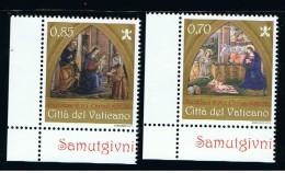 2013 - VATICANO - S25H - SET OF 2 STAMPS ** - Unused Stamps
