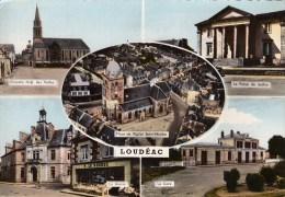 22 - Loudéac - Multivues - CPM écrite - Loudéac