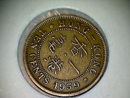 Hongkong 10 Cents 1959 - Hong Kong