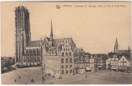Mechelen, Malines, Cathédrale St Rombaut, Hôtel De Ville Et Grand' Place (pk19583) - Mechelen