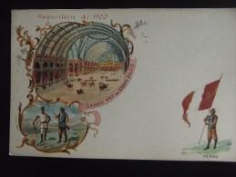 Exposition Universelle De Paris 1900 Grande Nef Du Grand  Palais Perou - Exhibitions