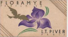 Carte Parfumée FLORAMYE Parfum De L.T. PIVER Au Verso Calendrier De 1933 - Vintage (until 1960)