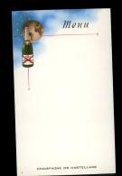 MENU Vierge Publicité Champagne DE CASTELLANE Epernay - Menus