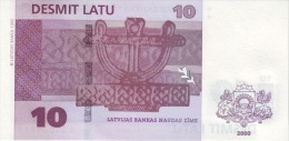 LATVIA P. 50 10 L 2000 UNC - Lettonie