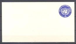 Nations Unies New York Enveloppe Entier Postal 4c - FDC