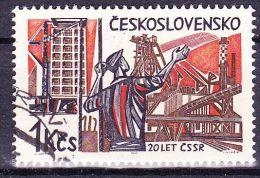 Tchécoslovaquie 1965 Mi 1536 (Yv 1402) Varieté-position 6/1, Obliteré, - Errors, Freaks & Oddities (EFO)