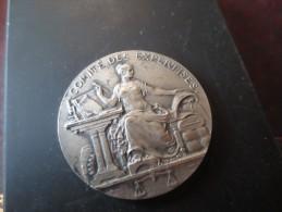 JETON METAL ARGENT - COMITE DES EXPERTISES - MINISTERE DU COMMERCE ET DE L'INDUSTRIE 1822- VOIR PHOTOS - Royaux / De Noblesse