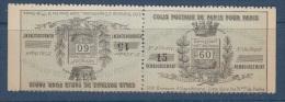 1891-COLIS POSTAUX DE PARIS A PARIS. MAURY N°7** SANS GOMME TETE BECHE - Parcel Post