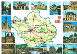 Aube : Carte Et Multivues - France