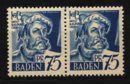 Baden,11 PF IV,im Paar Mit Normalmarke,xx  (5290) - Französische Zone