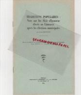 87 - EXTRAIT BULLETIN STE ARCHEOLOGIQUE LIMOUSIN- LOUIS BONNAUD- TRADITIONS MAIS D' HONNEUR ELECTIONS MUNICIPALES-1960- - Limousin