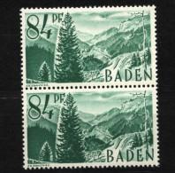 Baden,12 PF I,im Paar Mit Normalmarke,xx  (5290) - Französische Zone