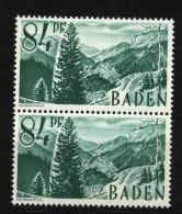 Baden,12 PF III,im Paar Mit Normalmarke,xx  (5290) - Französische Zone
