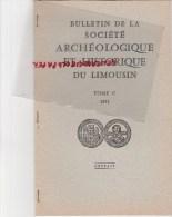 87 - EXTRAIT BULLETIN STE ARCHEOLOGIQUE LIMOUSIN- LOUIS BONNAUD-LA QUINTAINE SAINT LEONARD DE NOBLAT- 1973 - Limousin