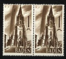 Baden,13 PF III,im Paar Mit Normalmarke,xx  (5290) - Französische Zone