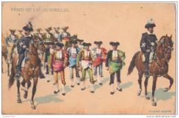 30 NIMES PASEO DE LAS CUADRILLAS TRES ANIMEES CPA BON ETAT - Nîmes