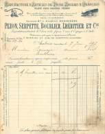 FACTURE LETTRE : AMBOISE . PEZON SERPETTE BOURLIER L'HERITIER ET CIE . ARTICLES DE PECHE ANGLAIS ET FRANCAIS . 1897 . - France