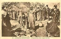 Réf : D-15-1960  : AFRIQUE ORIENTALE  PREPARATION DU REPAS DE FETE - Somalie